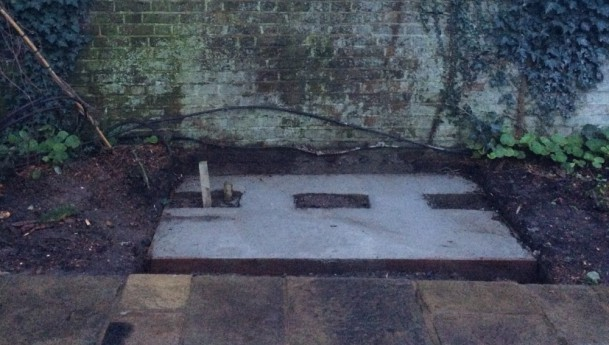how to create a partially mosaiced footpath